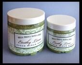 Earthy Lime Sugar Scrub -- Body Polish -- Bath and Beauty -- Vegan, Gift for Husband, Gift for Man, Gift for Woman, Christmas Gift