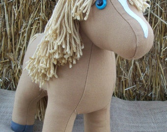 "MADE TO ORDER Canvas Colt ""Goldie"" Plush Horse"