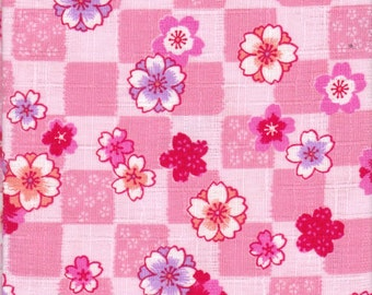 Cherry Blossom Material - 100% Cotton - 30cm x 50cm (11.8 x 19.7 inches) - Reference 18