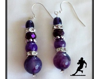 BALTIMORE RAVENS JEWELRY Earrings  jewelry bracelets handmade