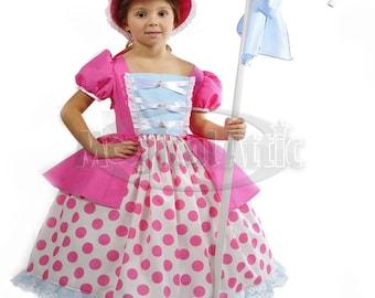 Custom Boutique Toy Story Inspired BO PEEP Girls Costume Dress Set