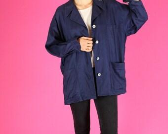 Midnight Blue Navy Linen Jacket - M / L