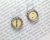 Typewriter Earrings With Fractions and Dots - Typewriter Key Jewelry From Haute Keys