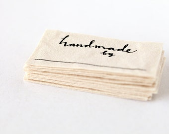 Handmade By Labels (Knitting, Crochet, or Sewing Labels) - customizable