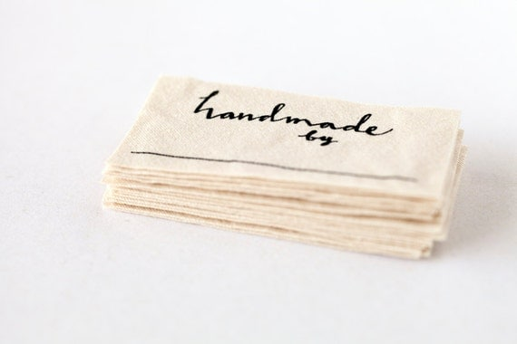 handmade labels for sewing handmade by labels knitting crochet or sewing labels 5505