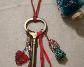 Santa's Key Heartfelt Christmas Ornament Decoration Personalize with name and/or date charm