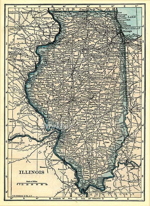 gorgeous illinois iowa missouri map