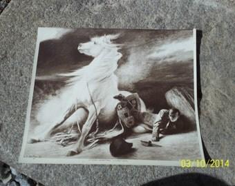 Vintage Black and White Art Print / Ideal for Framing / Fine Art / Edouard Debat-Ponsan / Masterpiece / Sepia