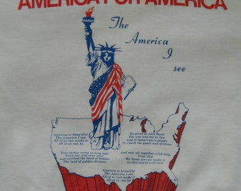 America for America 1986 vintage tee shirt - white size medium