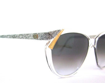 MINT Dominic Bellissimo Sunglasses // 80s Vintage Designer Eyeglasses // New Grey Gradient Lenses Db2004 ITALY