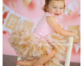 Birthday Tutu | 1st Birthday Tutu Dress | Baby Birthday Tutu | Cake Smash Tutu | Tutu Skirt | Pink and Gold Birthday Tutu