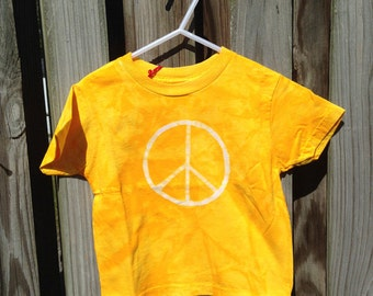 Kids Peace Sign Shirt (4T), Kids Peace Shirt, Kids Peace Sign Shirt, Boys Peace Sign, Girls Peace Sign, Yellow Peace Sign Shirt SALE