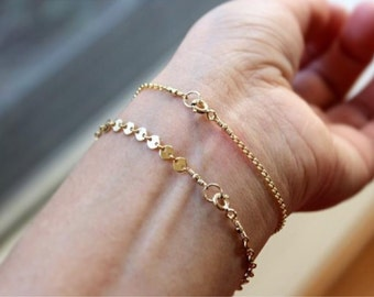 Tiny Discs Bracelet - 14K Goldfilled