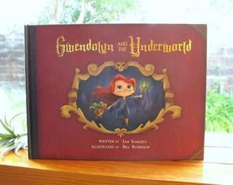 Gwendolyn and the Underworld   SIGNED   Illustrated Children's Book, Cute Undead Grim Reaper Girl   Flimflammery