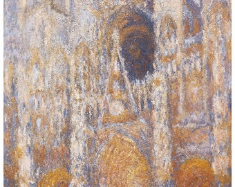 Wooden jigsaw puzzle. ROUEN CATHEDRAL. Claude Monet. Impressionist. Impressionism. Wood, handcut, handcrafted, collectible. Bella Puzzles.
