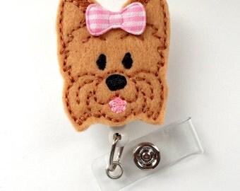 Yorkie - Name Badge Holder - Cute Badge Reels - Vet Badge - Pediatric Badge Clip  - Nursing Badge - Teacher Badge - Dog Badge