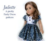 "Juliette Dress Sewing Pattern by Dollhouse Designs for 18"" American Girl Dolls Saige My AG pdf DIGITAL DOWNLOAD"
