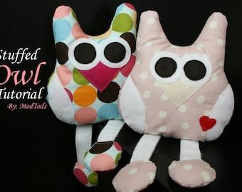 DIY Stuffed Owl Tutorial PDF Instant Download Printable Pattern