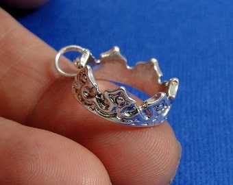 Royal Crown Charm - Silver Plated Royal Crown Charm for Necklace or Bracelet