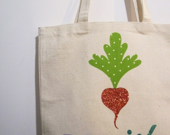 SO SASSY 'Radish' Canvas Tote