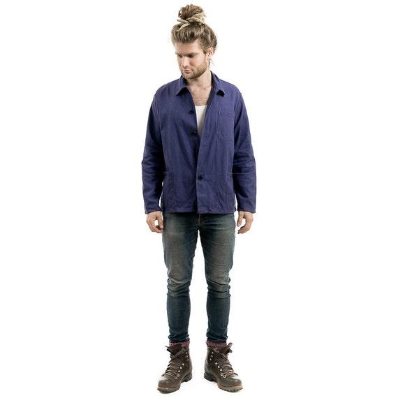 french vintage work jacket mens 80s work clothes jacket