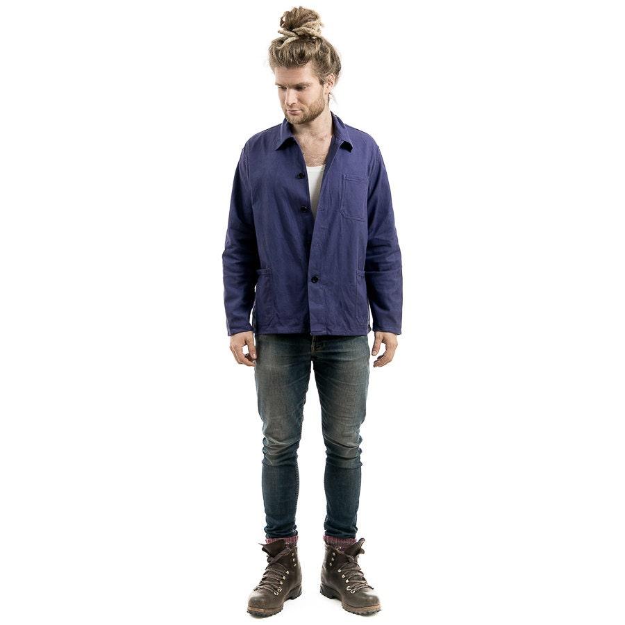 vintage work jacket mens 80s work clothes jacket