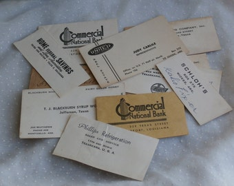 Very Vintage Collection of Business Cards and Envelope Corners