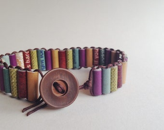 Paper Bead Wrap Bracelet - Upcycled, Recycled and Eco Friendly