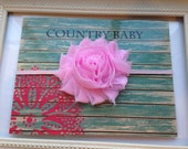 Deal of the Day...Light Pink Baby Headband, Headband, Baby Girl Headband, Newborn Headband, Shabby Chic Flower Headband