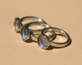 Nickel Silver Ring Hammered Wire with Round Bezel Cup 11mm for Resin Gluing or Setting - Size 8