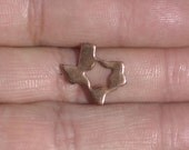 Tiny Texas State With Star Blanks Cutout for Metalworking Stamping Texturing Blank Variety of Metals