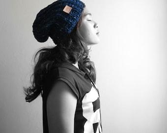 Indigo Hand Crochet Hat