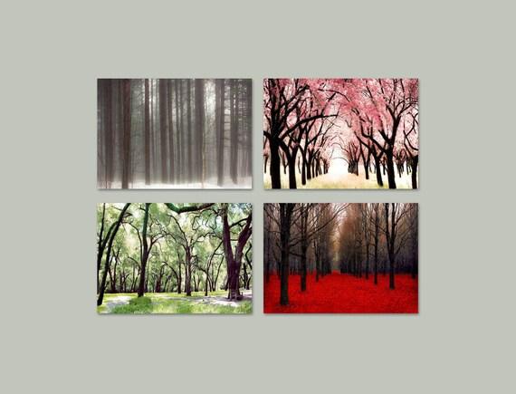 SALE, 4 Seasons Prints, Four Seasons Photos, 4 Seasons Tree Prints, Set of 4 Photos, Four Seasons Art, 4 Seasons, Save 50%