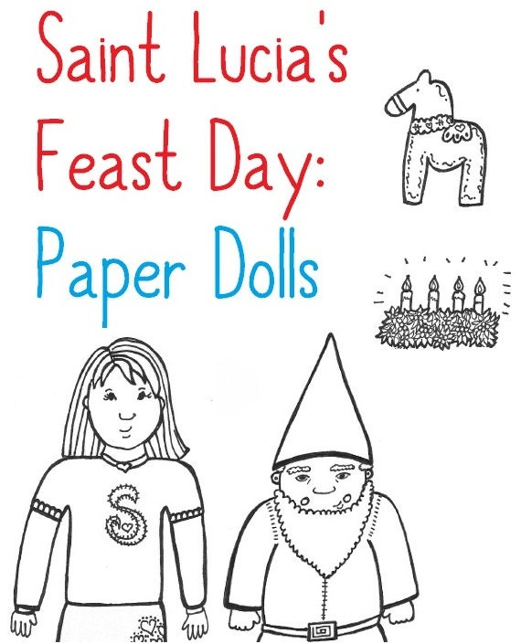 st lucias day coloring pages-#19