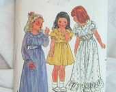 Butterick 3119 Breezy Dress Little Girl Vintage Sewing Pattern Size 3
