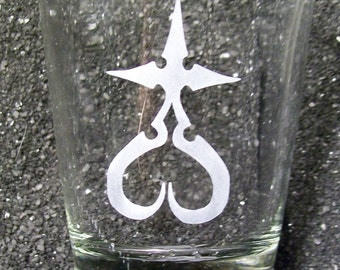 Heart of the Kingdom Nobody etched shot glass