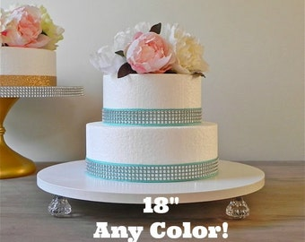 """18"""" ANY COLOR Wedding Cake Stand Cupcake Stand Bling White Silver Wedding Decor E. Isabella Designs Featured In Martha Stewart Weddings"""