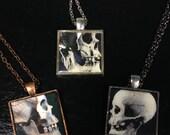 Skull photo necklaces