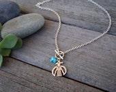 Southwest Thunderbird and Turquoise Necklace . Charm Pendant