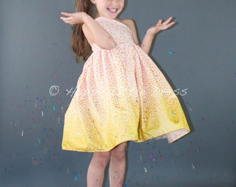 Sale. Holiday Dress. One Shoulder Party, Special Occasion Dress for Girls. Size 3T. Ready to Ship.