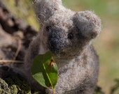 RESERVED for Jennifer- Koala  - needle felted wool animal sculpture