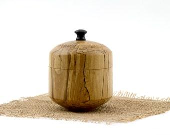 Spalted Wooden Round Elm Box