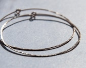Feather-lite 14k Yellow Gold Filled Hand Forged 2, 2.5, 3 or 3.5 inch Hammered Hoop Earrings 14k Rose Gold Filled Hoops