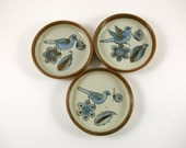 Three Ken Edwards for El Palomar Coasters with Bird Motif  -- Tonala Mexico
