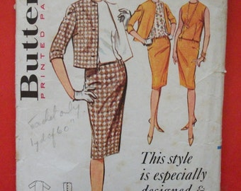 Vintage 1960's Suit Pattern Butterick 2135