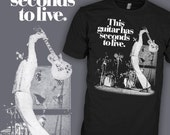 This Guitar Has Seconds to Live T-Shirt - The Who Pete Townshend Shirt - Gibson Les Paul - FREE SHIPPING