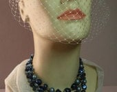 Vintage Cobalt Goldsplashed Necklace