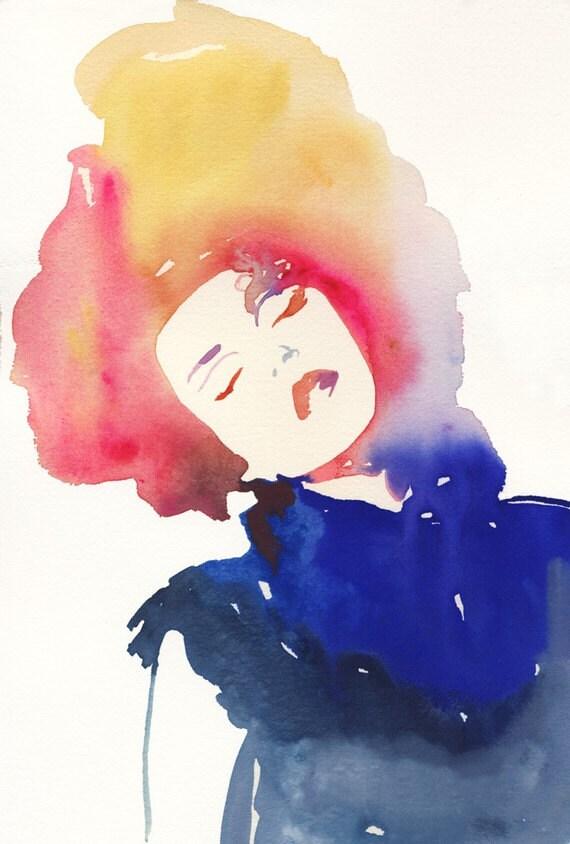 Fashion Illustration, Fashion Illustration Print, Watercolor Fashion Print, Fashion Sketch, Fashion Poster, Beauty Illustration,