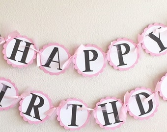 Minnie Mouse Birthday Banner | Light Pink | With NAME Banner