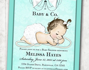 Baby Shower Invitation for baby girl baby shower - DIY Printable